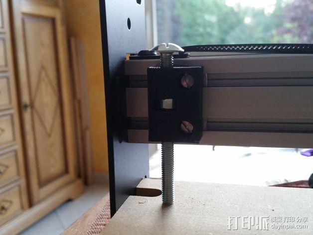 ShapeOko设备 水平校准装置 3D打印模型渲染图