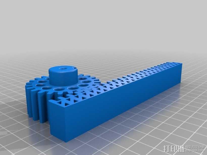 小齿轮 齿条 3D打印模型渲染图