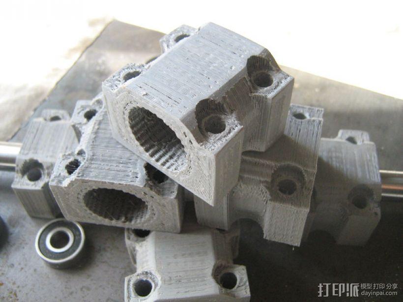 LM12UU滚珠轴承零部件 3D打印模型渲染图