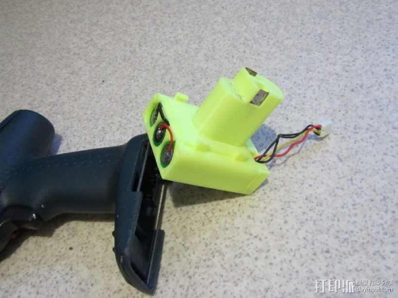Bosch GSR电动起子 电池底座 3D打印模型渲染图
