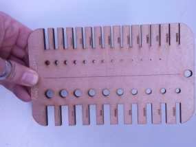 厚度直径测量板