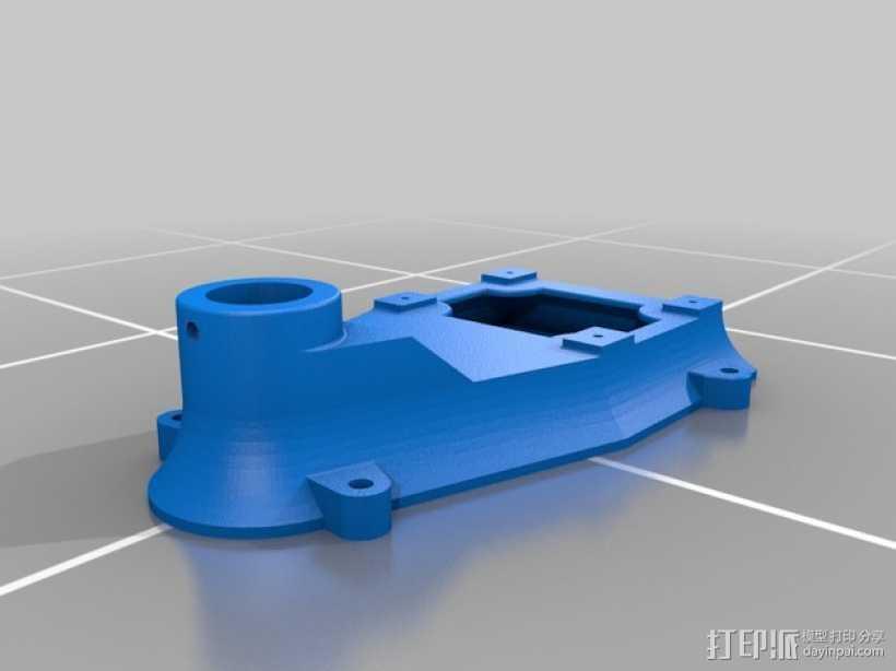 钻床底座 3D打印模型渲染图