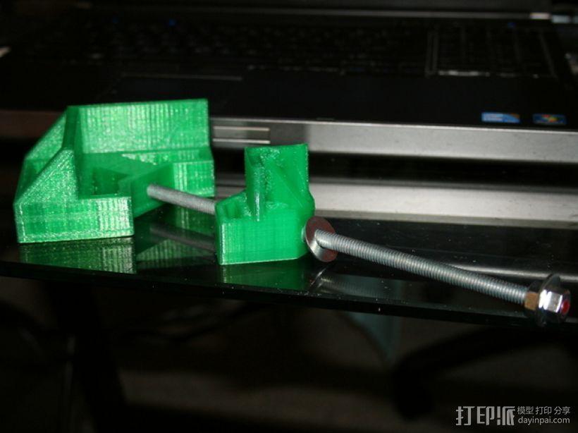 90直角固定夹 3D打印模型渲染图