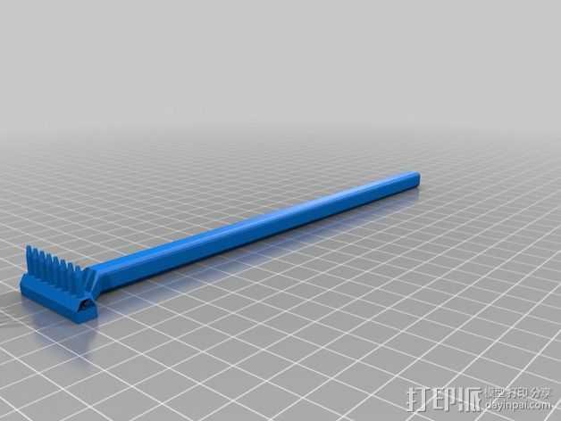 痒痒挠/搔背器 3D打印模型渲染图