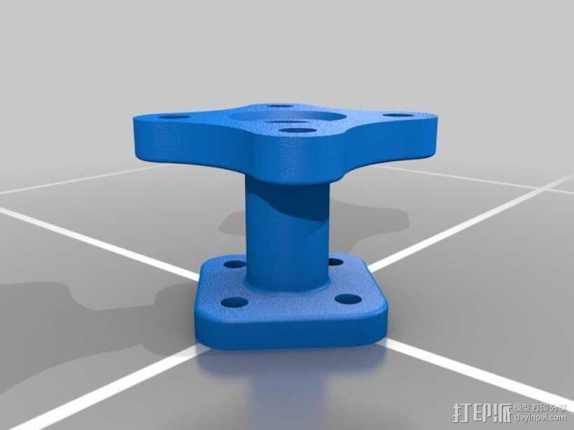 法兰适配器 3D打印模型渲染图