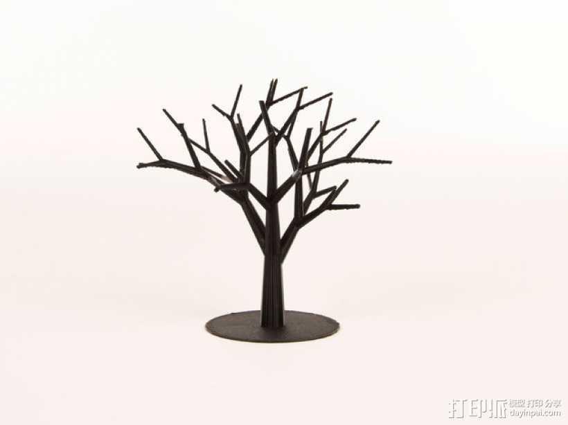 枝桠繁盛的树 3D打印模型渲染图