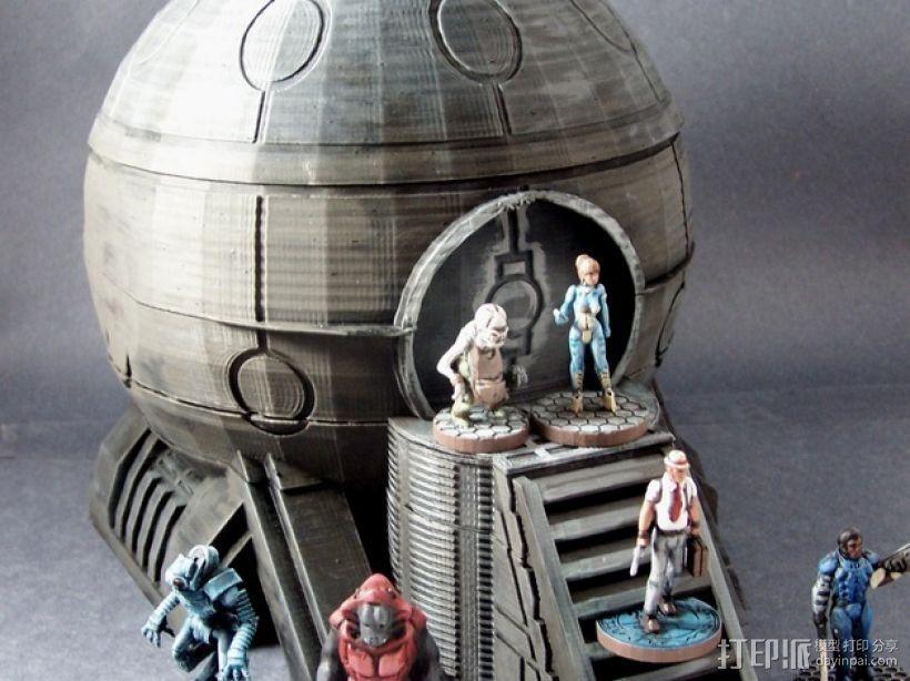 圆顶建筑 3D打印模型渲染图