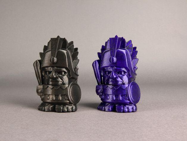 阿兹提克战酋 3D打印模型渲染图