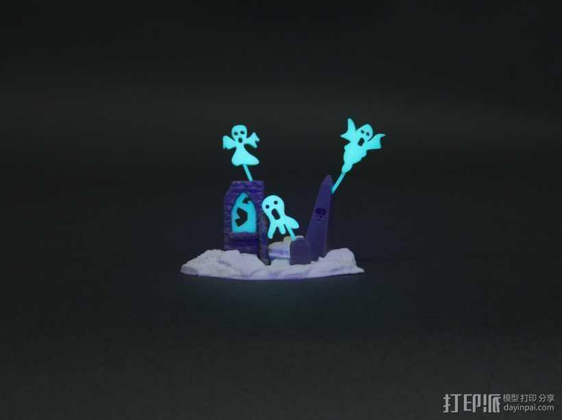 闹鬼的墓地 3D打印模型渲染图