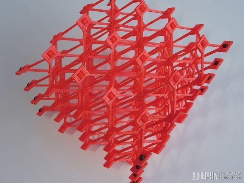 蜂窝结构模型 3D打印模型渲染图