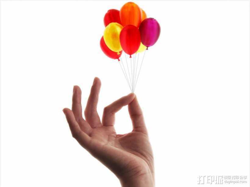 气球 3D打印模型渲染图