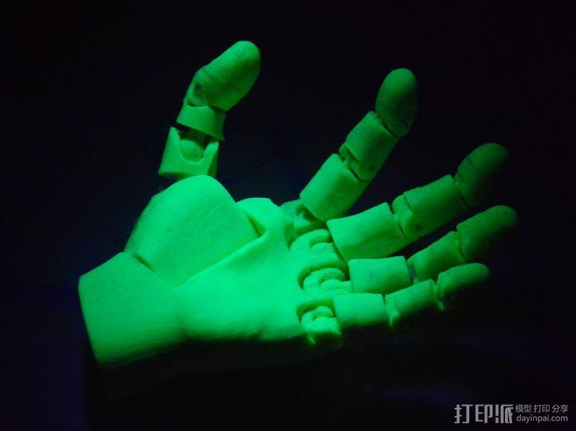 关节可活动的手模型 3D打印模型渲染图