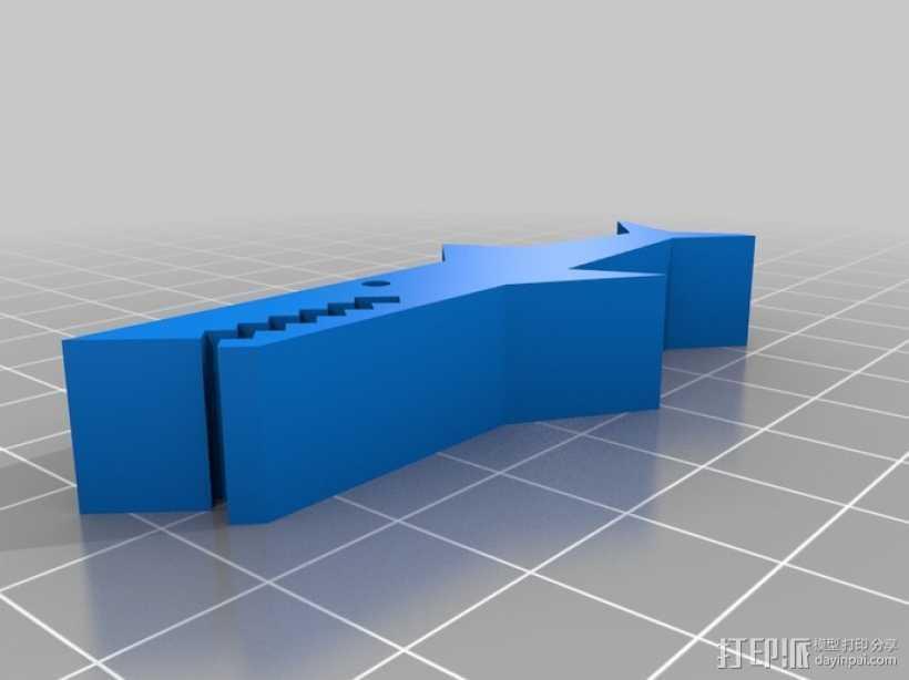 鳄鱼夹 3D打印模型渲染图