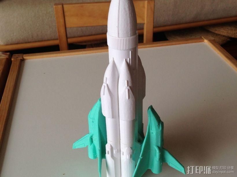 航天飞机运载火箭 3D打印模型渲染图