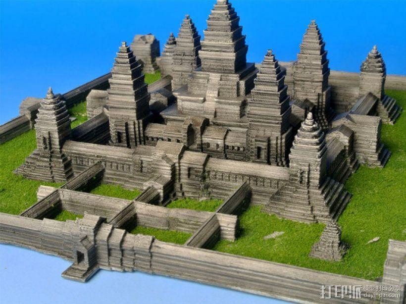 吴哥窟 3D打印模型渲染图
