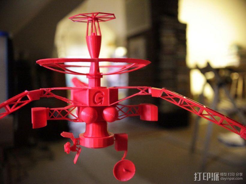 伽利略号宇宙飞船 3D打印模型渲染图
