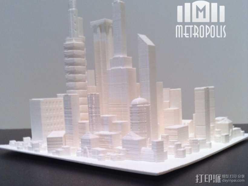大都市 3D打印模型渲染图