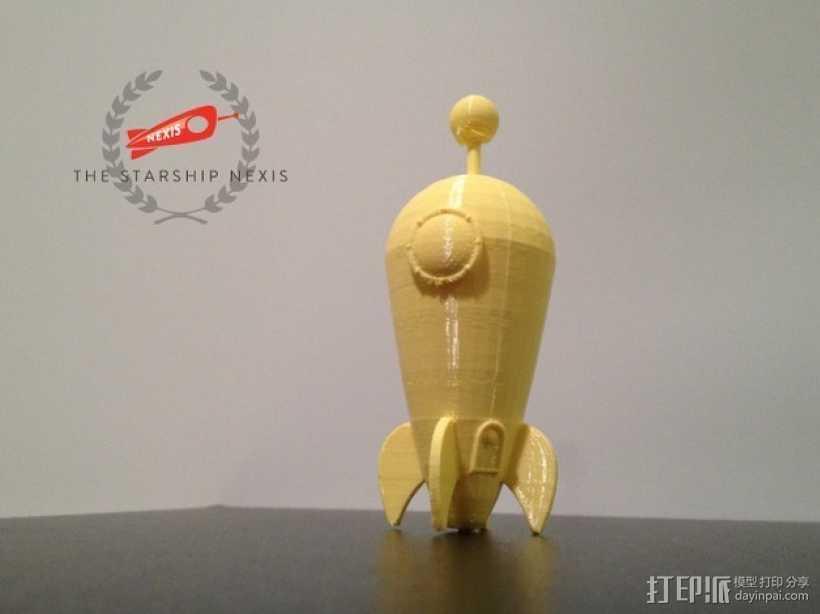 星际飞船 3D打印模型渲染图