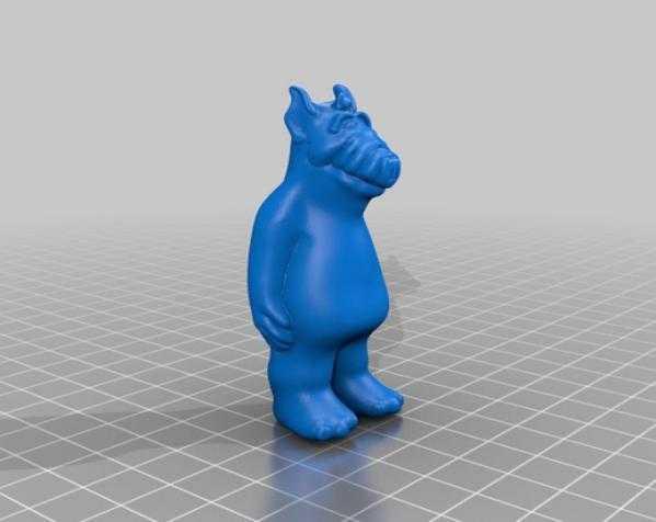 Alf 3D打印模型渲染图