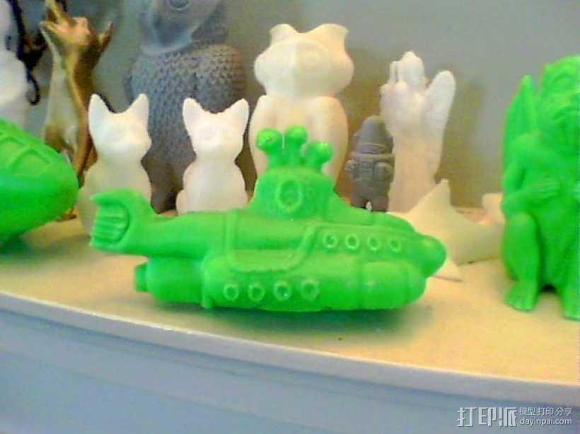 黄色的潜水艇 3D打印模型渲染图