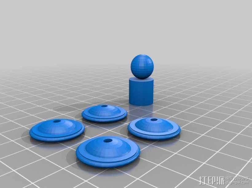 赛车 3D打印模型渲染图