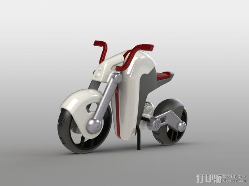 电动摩托车 3D打印模型渲染图