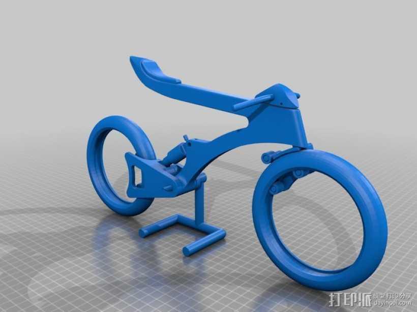 摩托车模型  3D打印模型渲染图