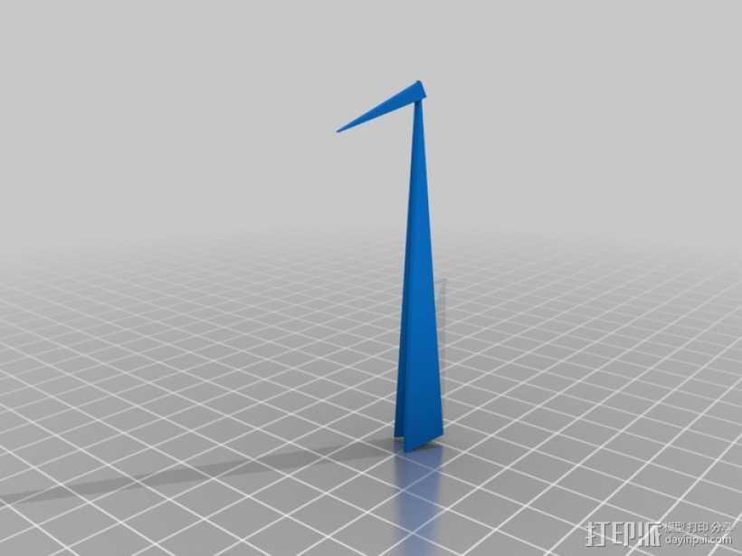 千纸鹤 3D打印模型渲染图