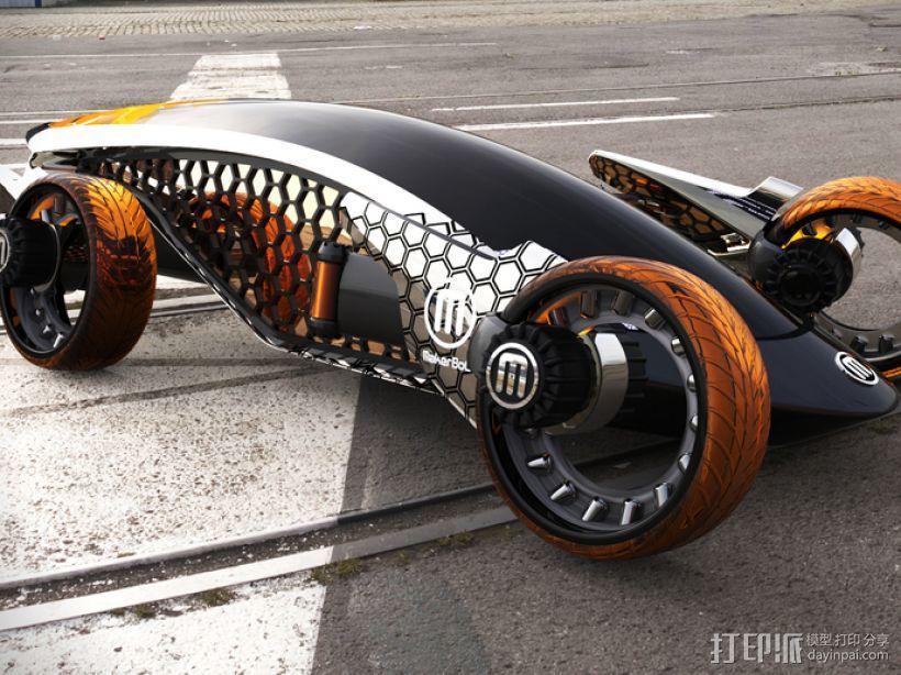 Firanse R3 未来风赛车 3D打印模型渲染图