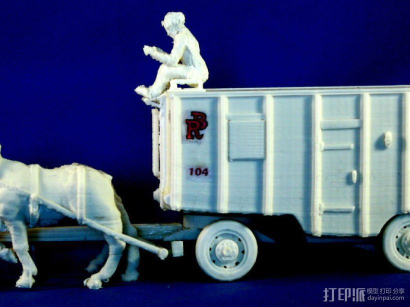 大篷车 3D打印模型渲染图