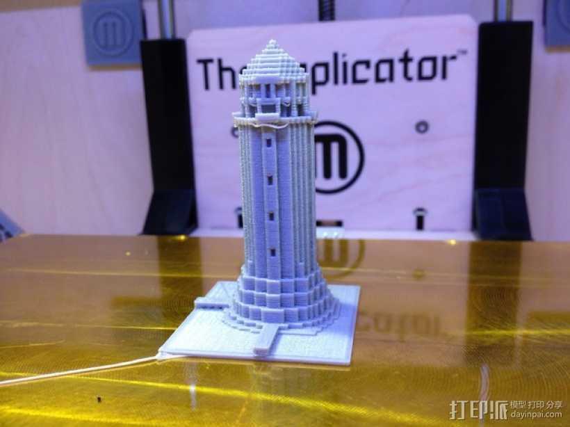 游戏《Minecraft》灯塔 3D打印模型渲染图