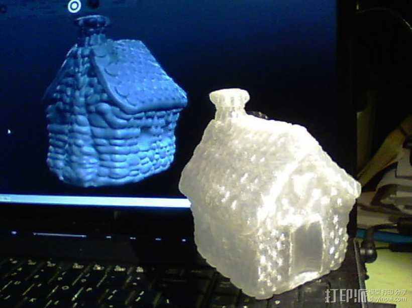 小石屋 3D打印模型渲染图
