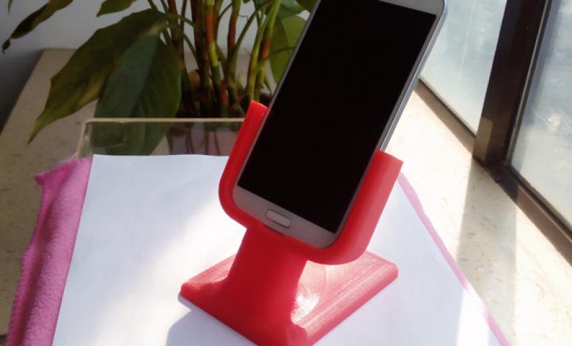 三星桌面支架 3D打印实物照片