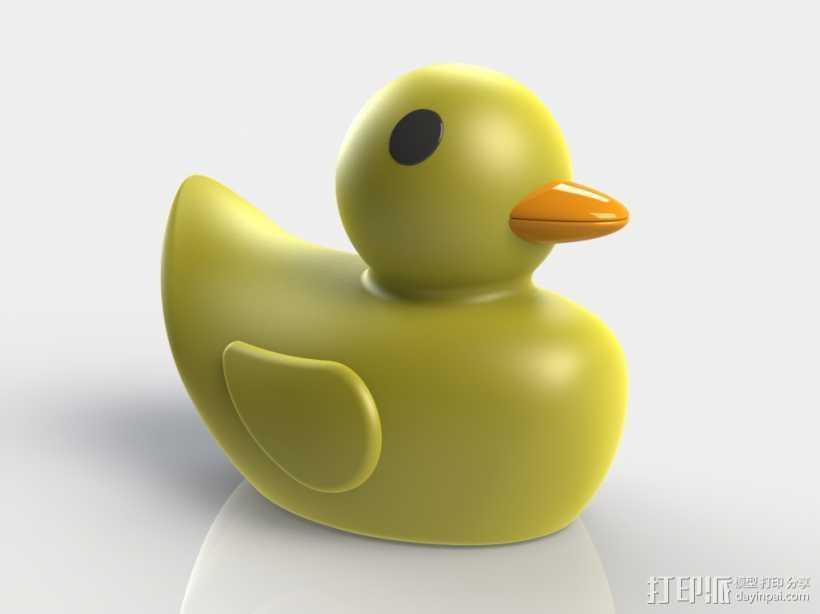 黄小鸭 3D打印模型渲染图
