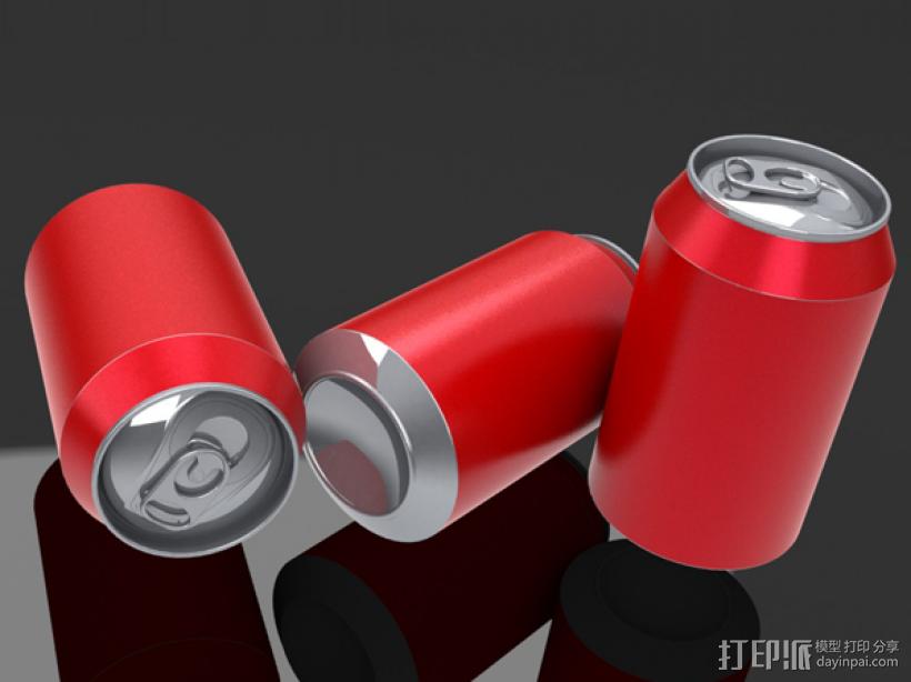 易拉罐 3D打印模型渲染图
