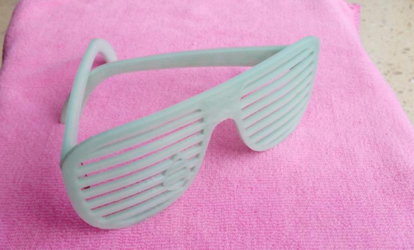 快门眼镜 3D打印实物照片