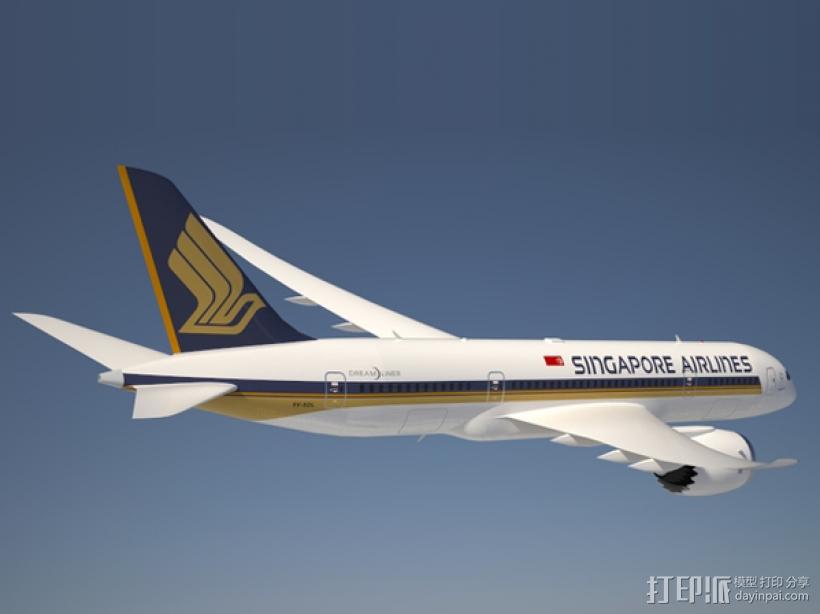 飞机模型 3D打印模型渲染图