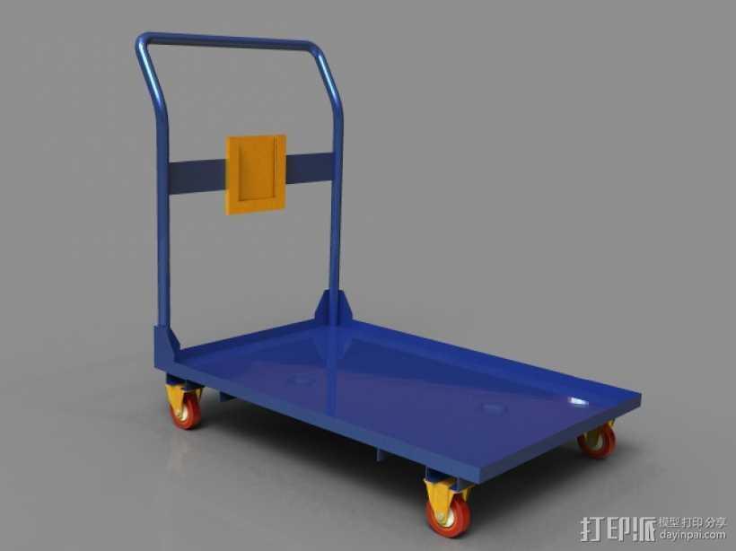 拉货车 3D打印模型渲染图
