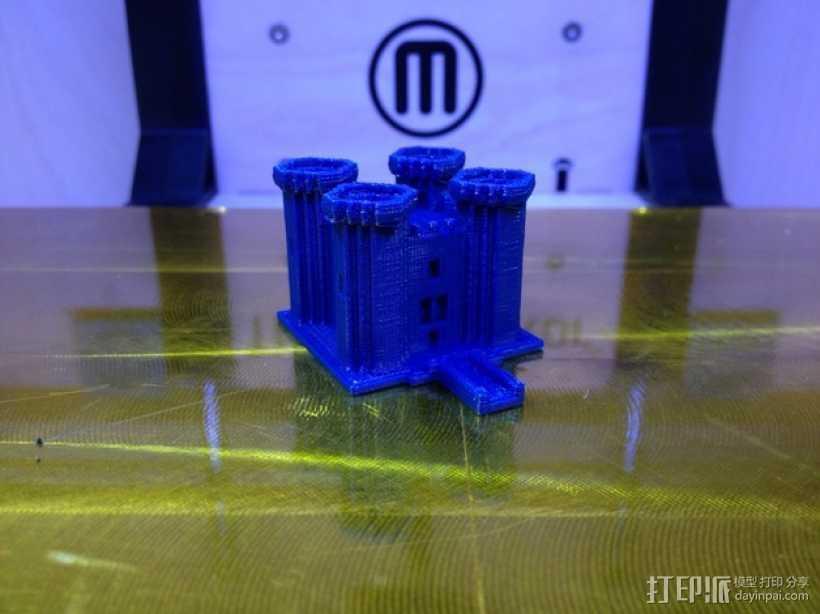 游戏《Minecraft》城堡 3D打印模型渲染图