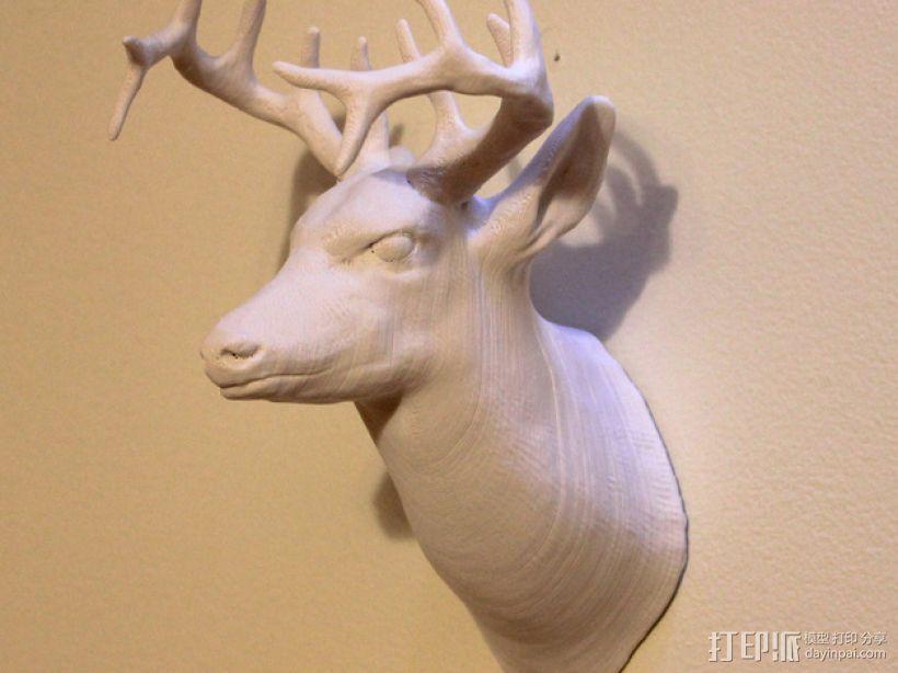 鹿头 3D打印模型渲染图