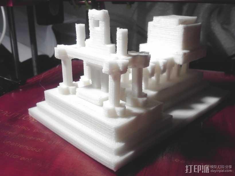 游戏《Minecraft》独眼巨人神殿 3D打印模型渲染图