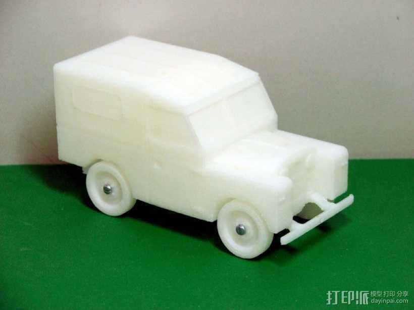 路虎越野车 3D打印模型渲染图