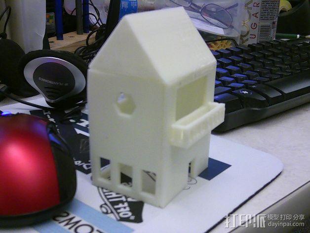 小屋 3D打印模型渲染图
