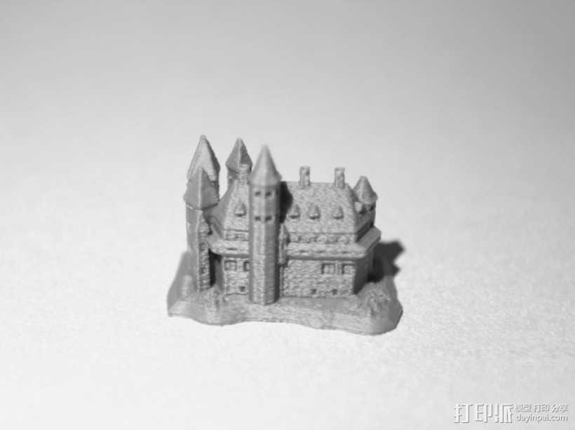 女巫城堡 3D打印模型渲染图