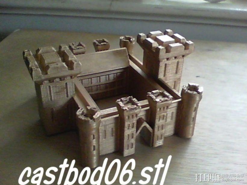 博丁安城堡  3D打印模型渲染图