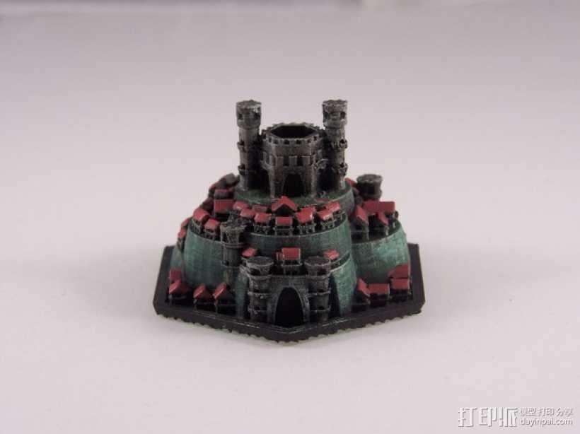 战争游戏 城堡 3D打印模型渲染图