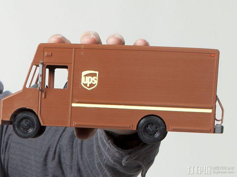UPS卡车 3D打印模型渲染图