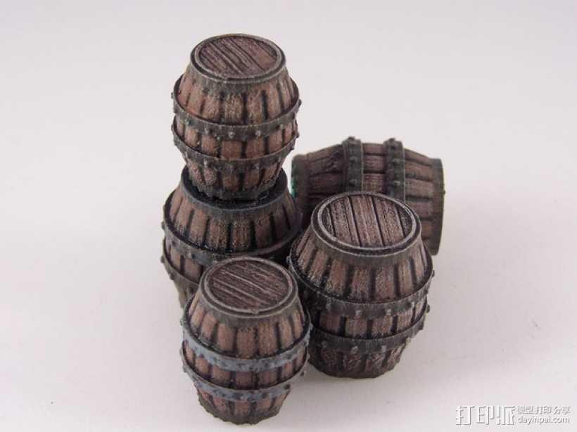 木桶 3D打印模型渲染图