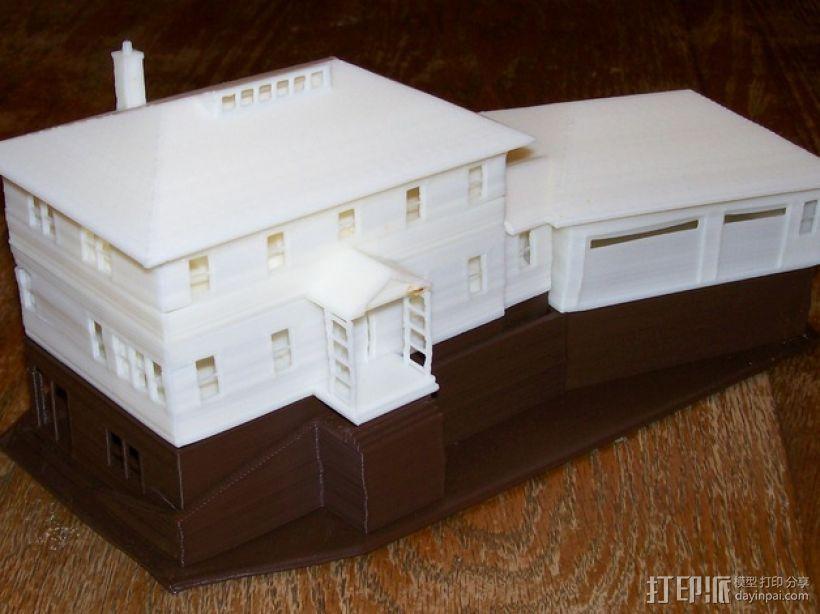 迷你房屋 3D打印模型渲染图