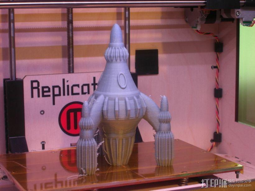 反推进火箭 3D打印模型渲染图